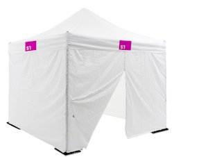 Tent 10'x10' ( 3 x 3m ) White w/ Top + Sidewalls