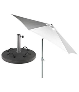 White 10' ( 3 m ) Umbrella with 88lb ( 40 kilogram ) Base