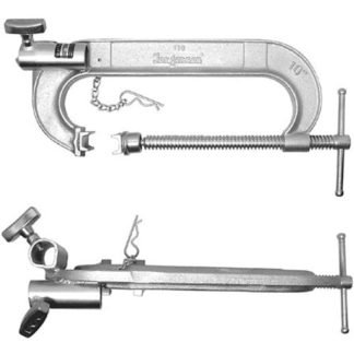 """C Clamp - 10"""" with Double Junior Receiver - MSE"""