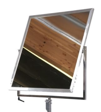 "42"" x 42"" Mirrored Reflector with Yoke Brake - MSE"