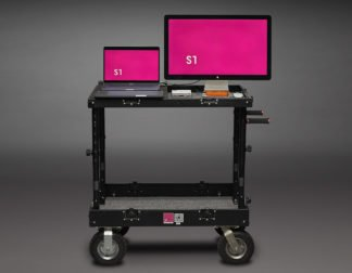 Laptop with Travel Cart + Monitor