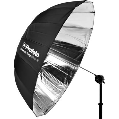 Profoto Medium Deep Silver Umbrella w stand